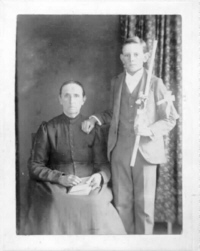 Hermine Bourgeois Lavergne and Jean Clairville Lavergne